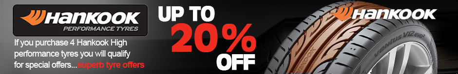 If you purchase 4 Hankook High performance tyres you will qualify for special offers...superb tyre offers | Up to 20% off